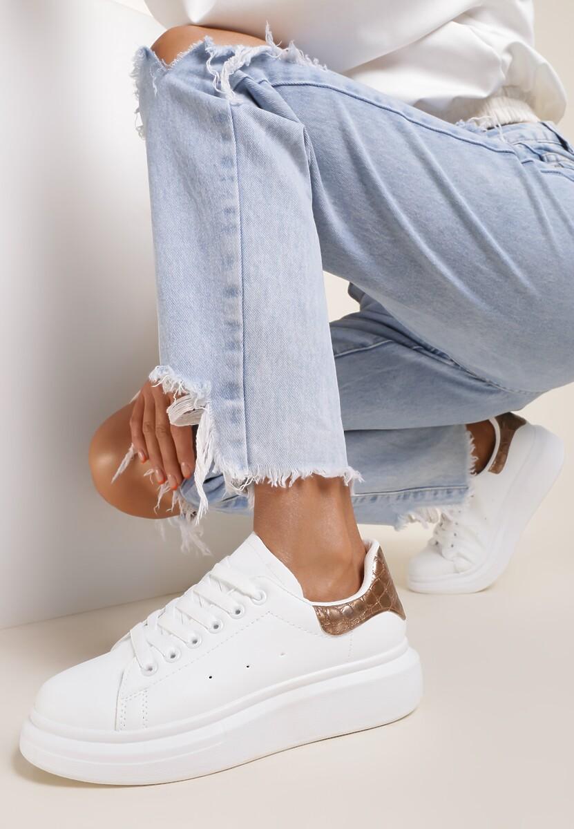 Bialo-Różowe Sneakersy Daphicea