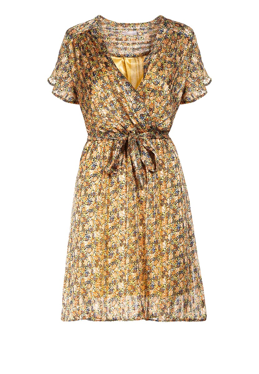 Żółta Sukienka Asinoire