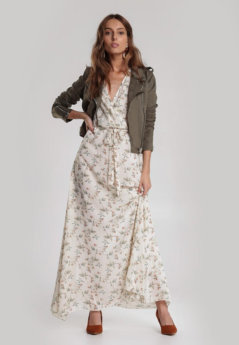 Jasnobeżowa Sukienka Dorylis