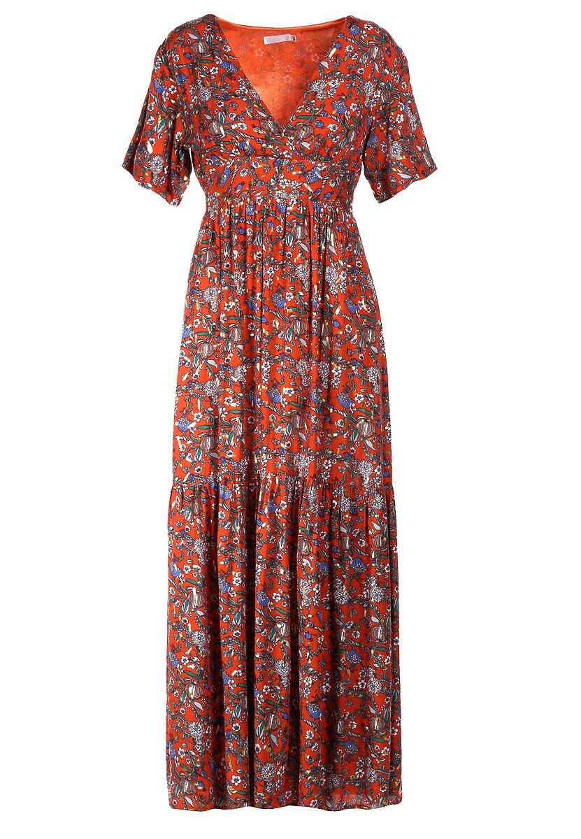 Pomarańczowa Sukienka Daphithyia