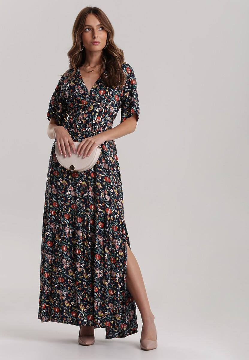Granatowa Sukienka Daphithyia