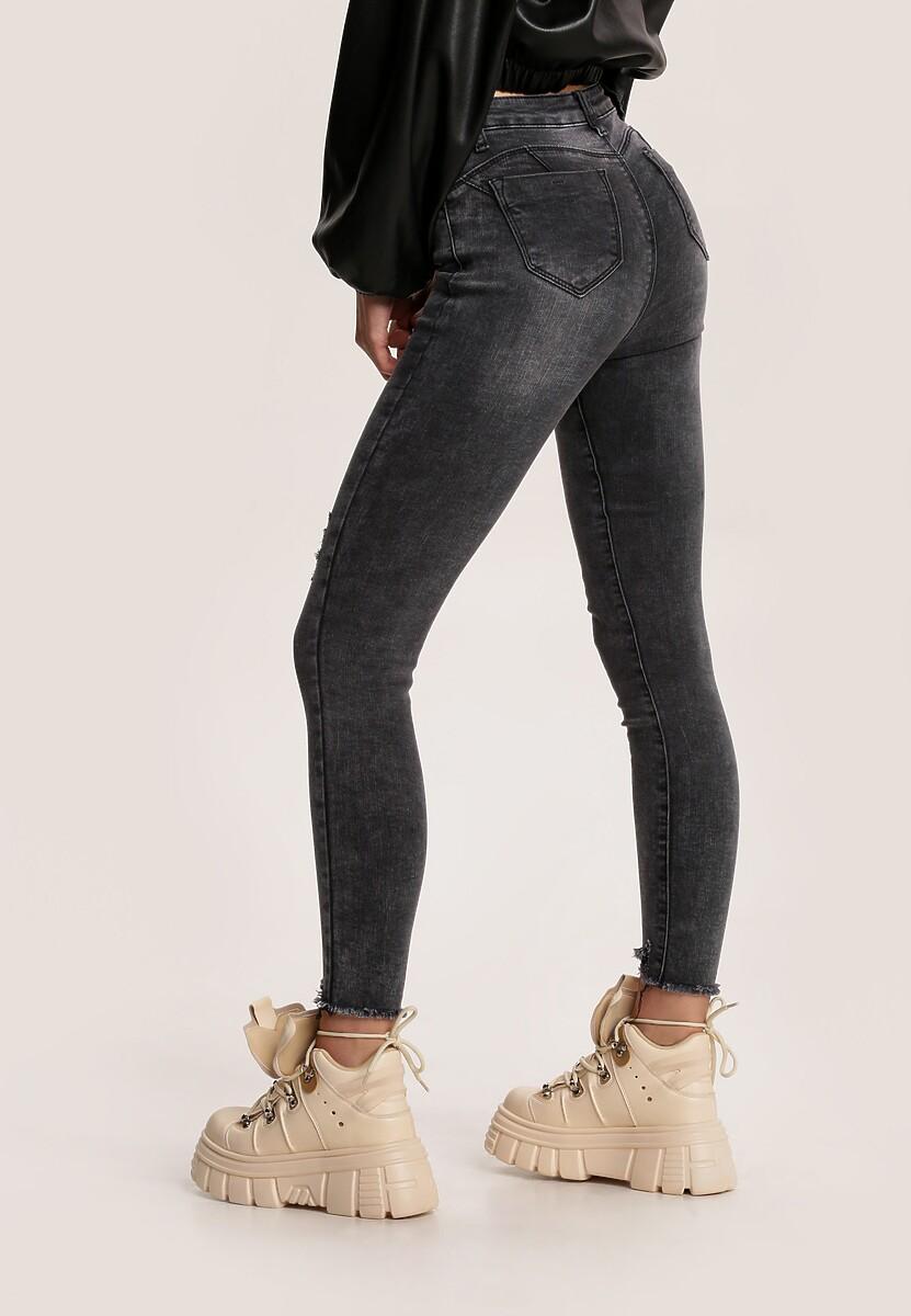 Czarne Jeansy Skinny Heliesh