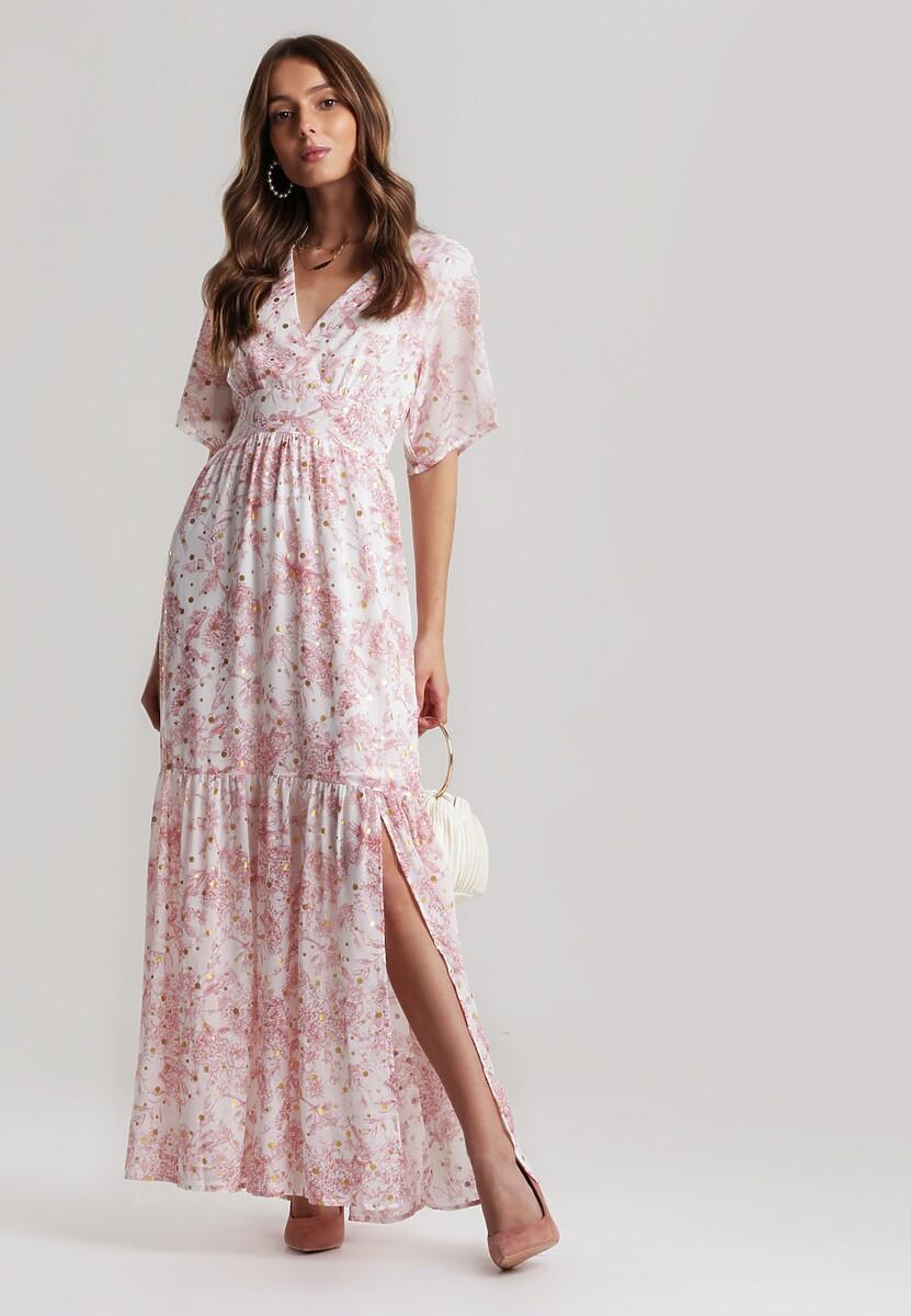 Biało-Różowa Sukienka Kahlithe