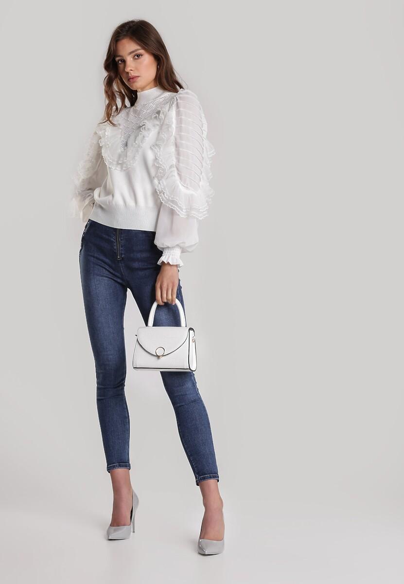 Biały Sweter Ilathea