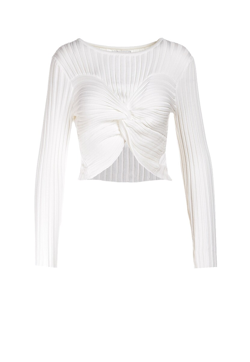 Biały Sweter Alurenna