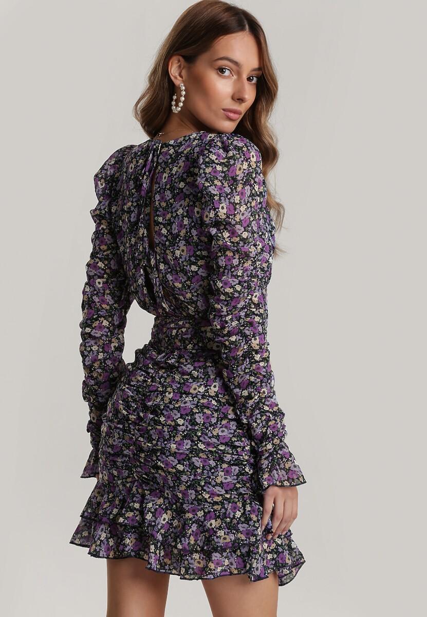 Granatowa Sukienka Clasise