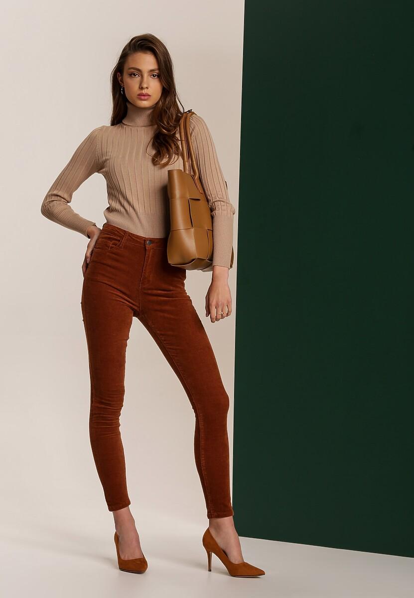 Brązowe Spodnie Sheithia
