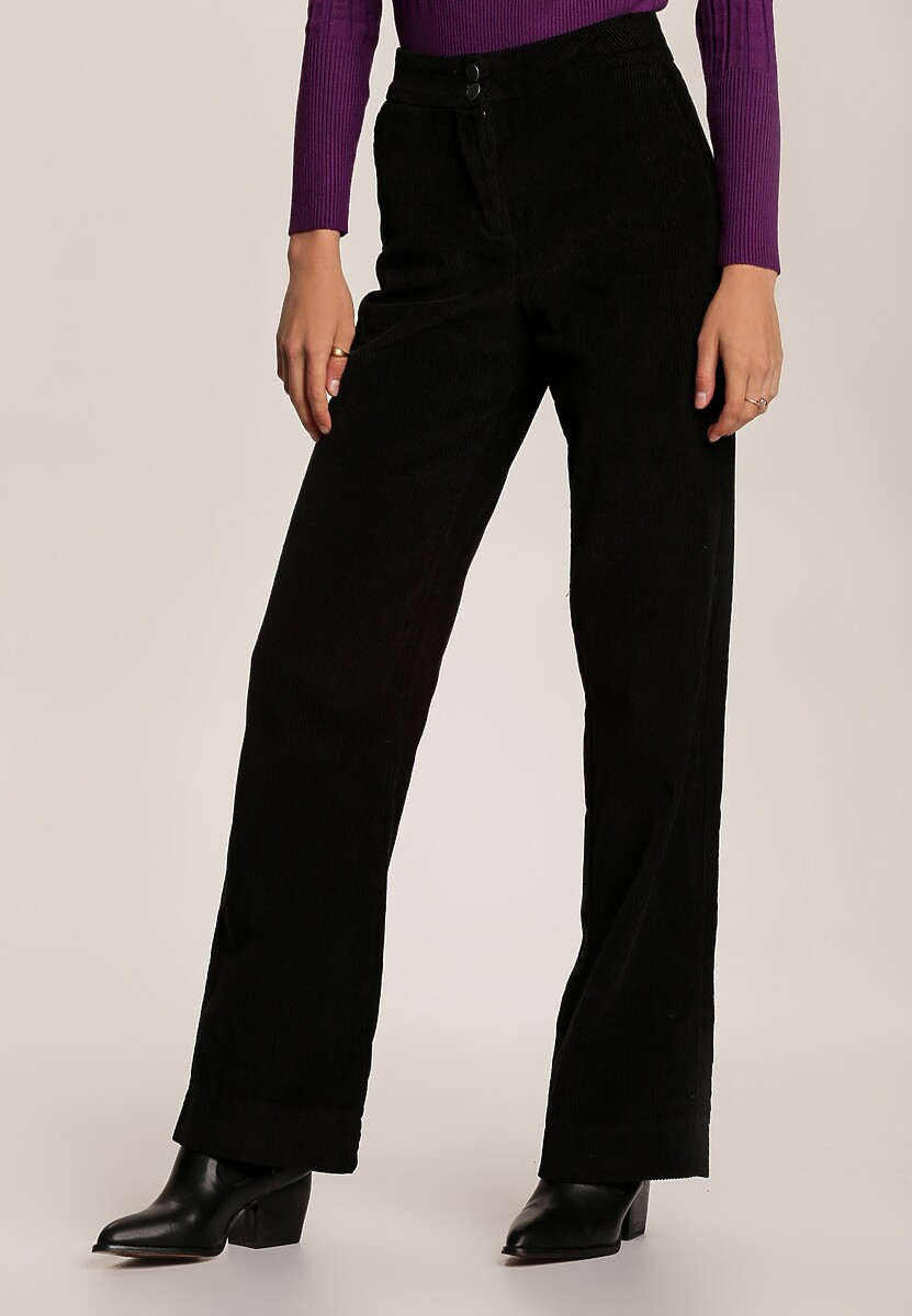 Czarne Spodnie Szerokie Parrila
