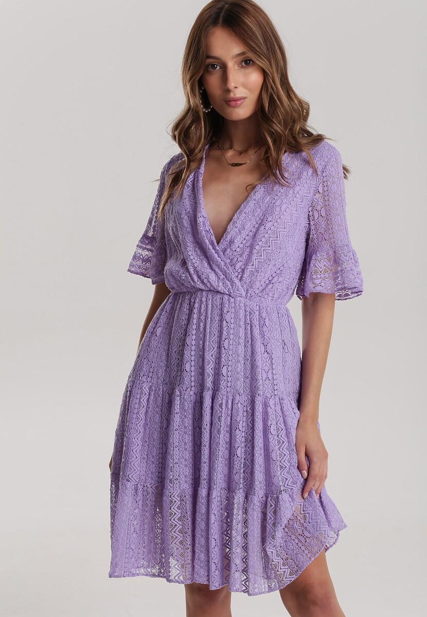 Lawendowa Sukienka Aqealila