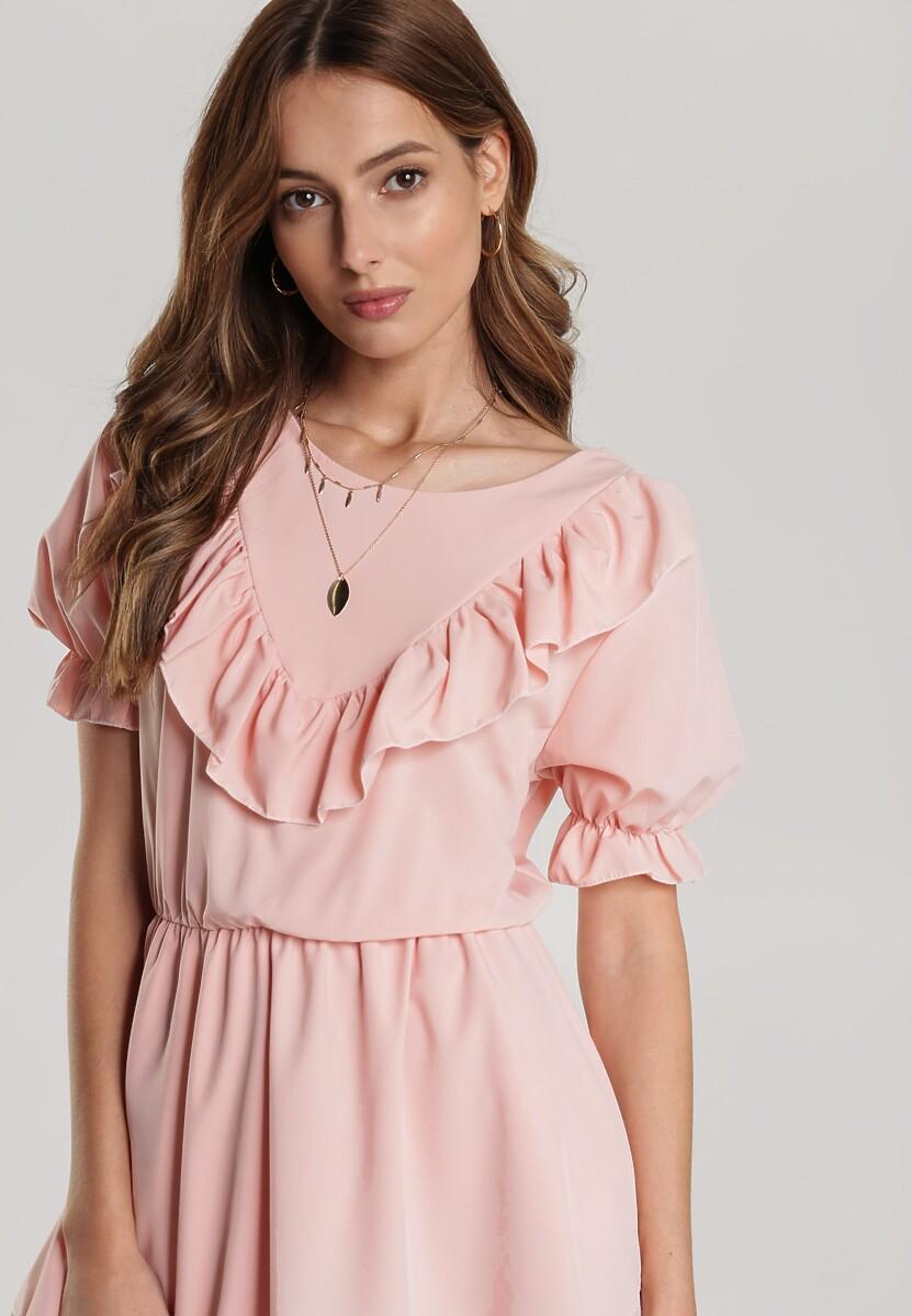 Różowa Sukienka Pallerodia