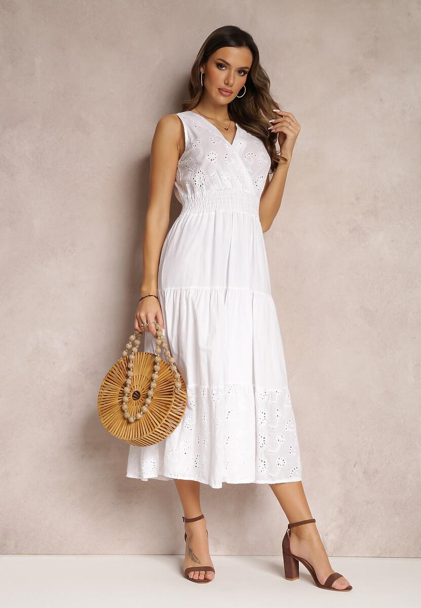 Biała Sukienka Echirodia