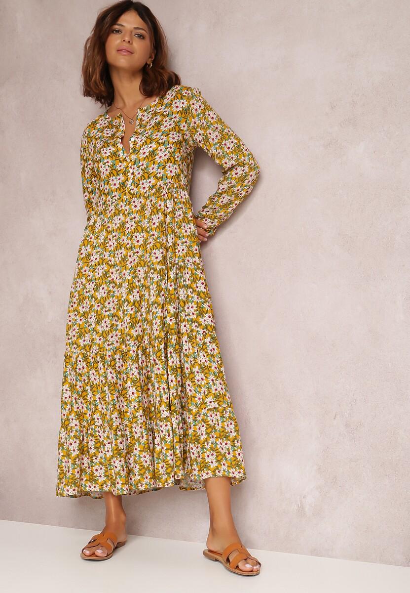 Żółta Sukienka Eatherin