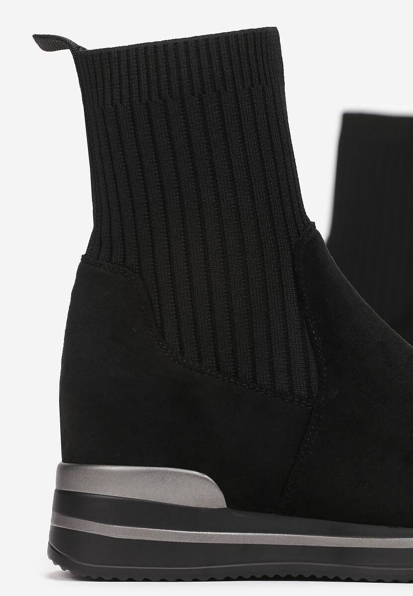 Czarne Sneakersy Elrinoria