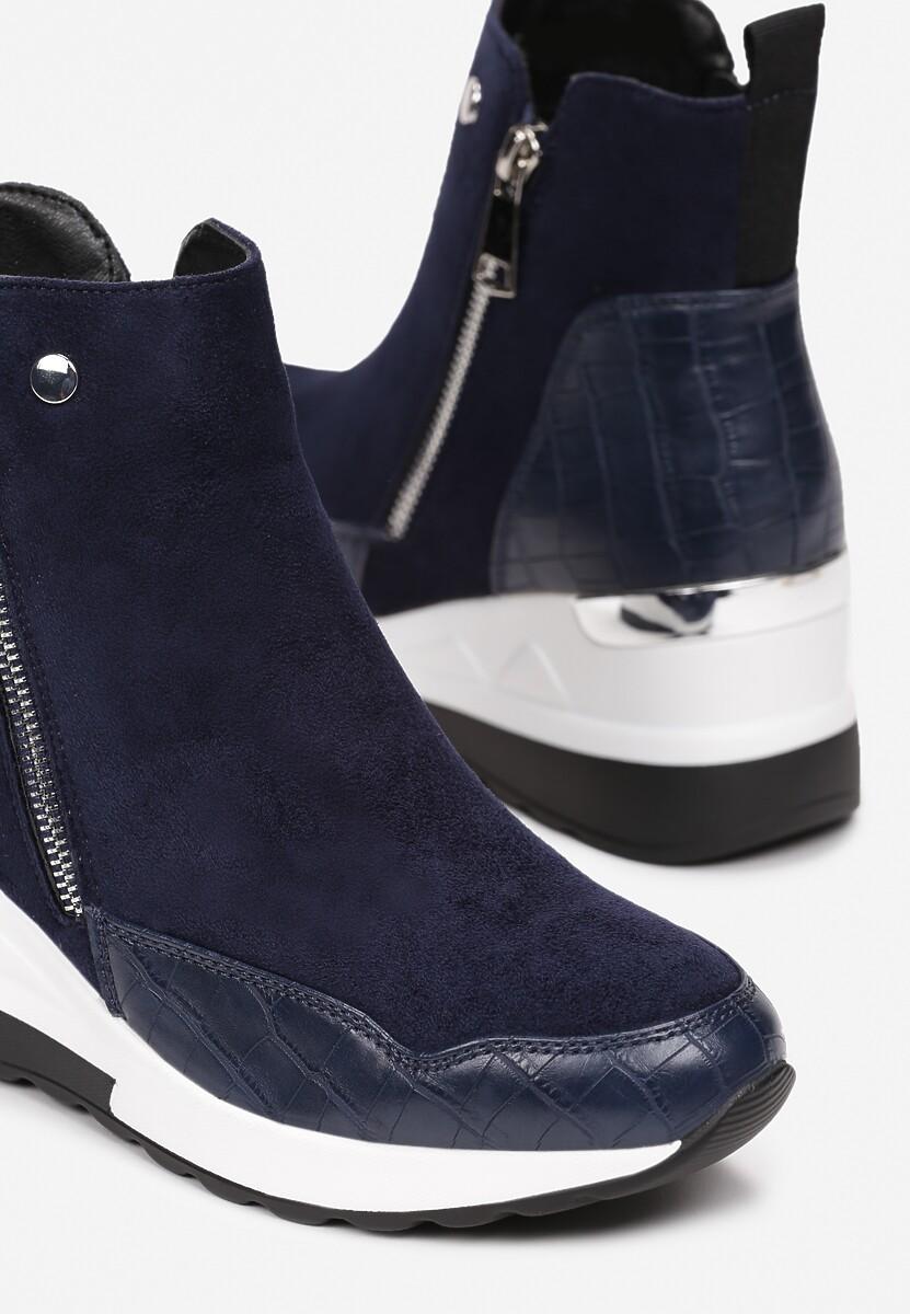 Granatowe Sneakersy Yserith