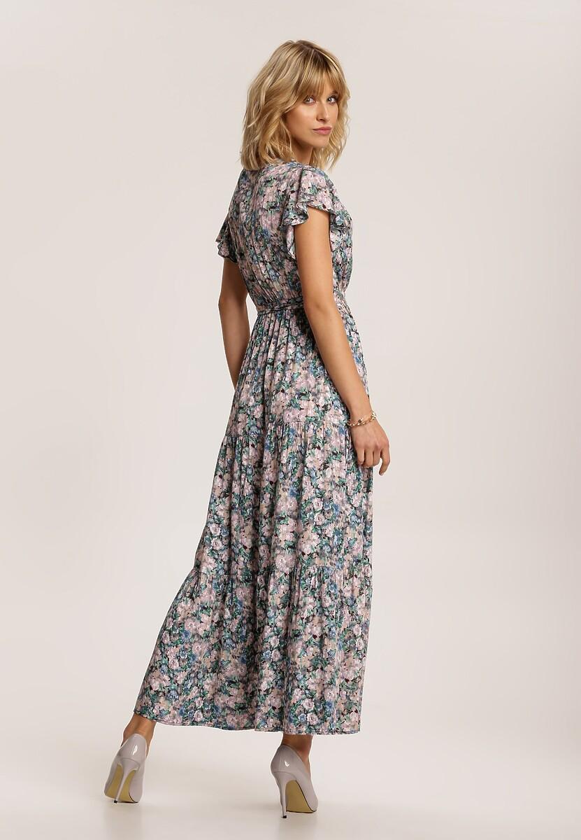 Niebieska Sukienka Elunelle