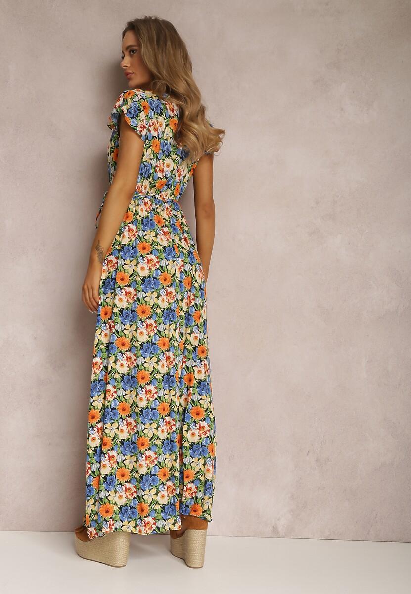 Niebieska Sukienka Amafer