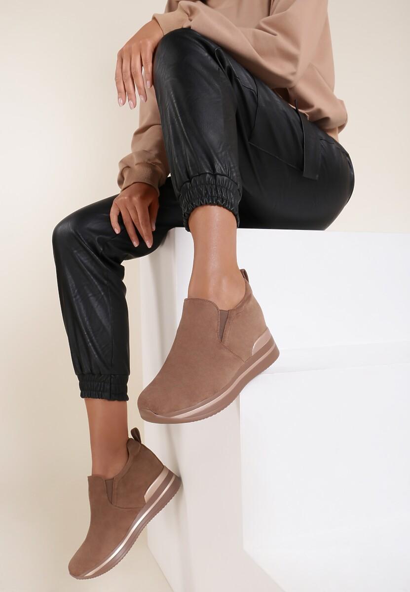 Ciemnobeżowe Sneakersy Yrellith
