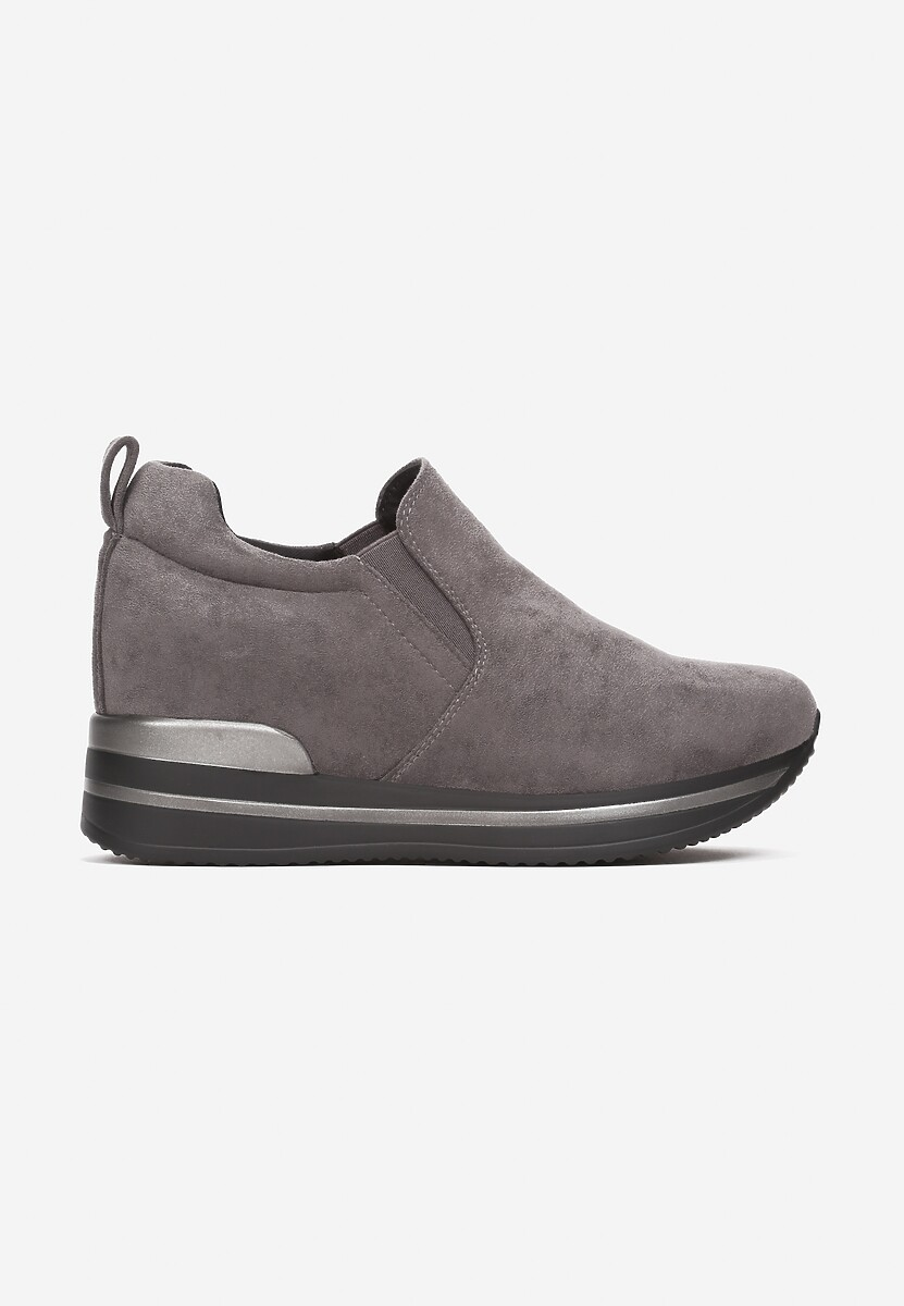 Szare Sneakersy Yrellith