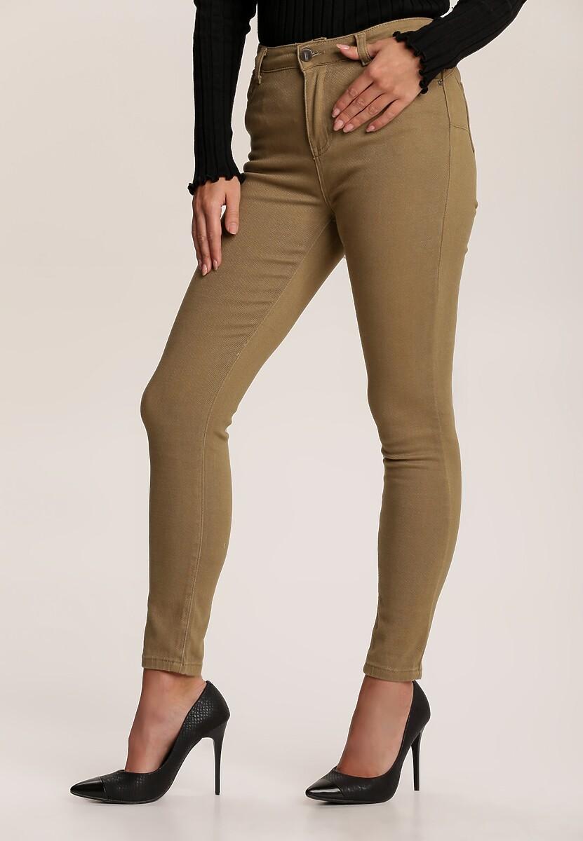 Beżowe Spodnie Skinny Eliteia