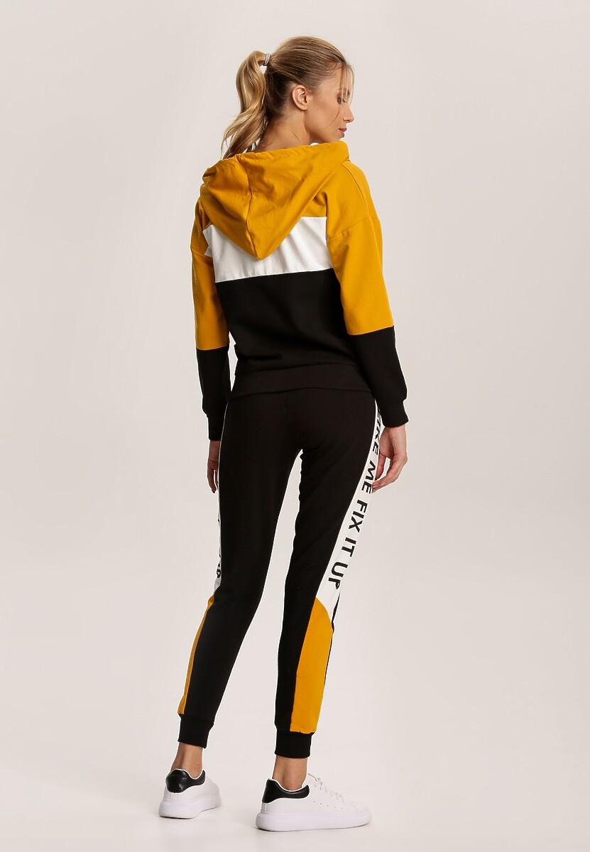 Żółty Komplet Dresowy Fyraela