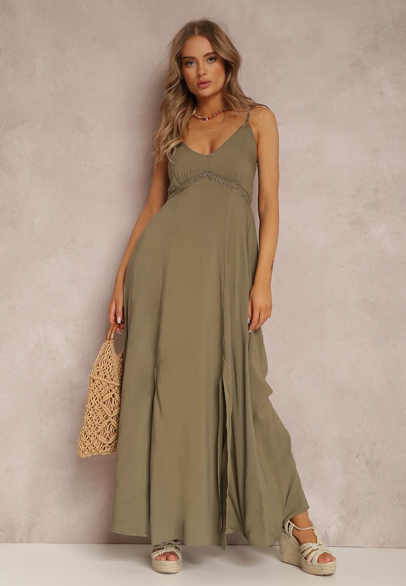 Ciemnozielona Sukienka Helysha