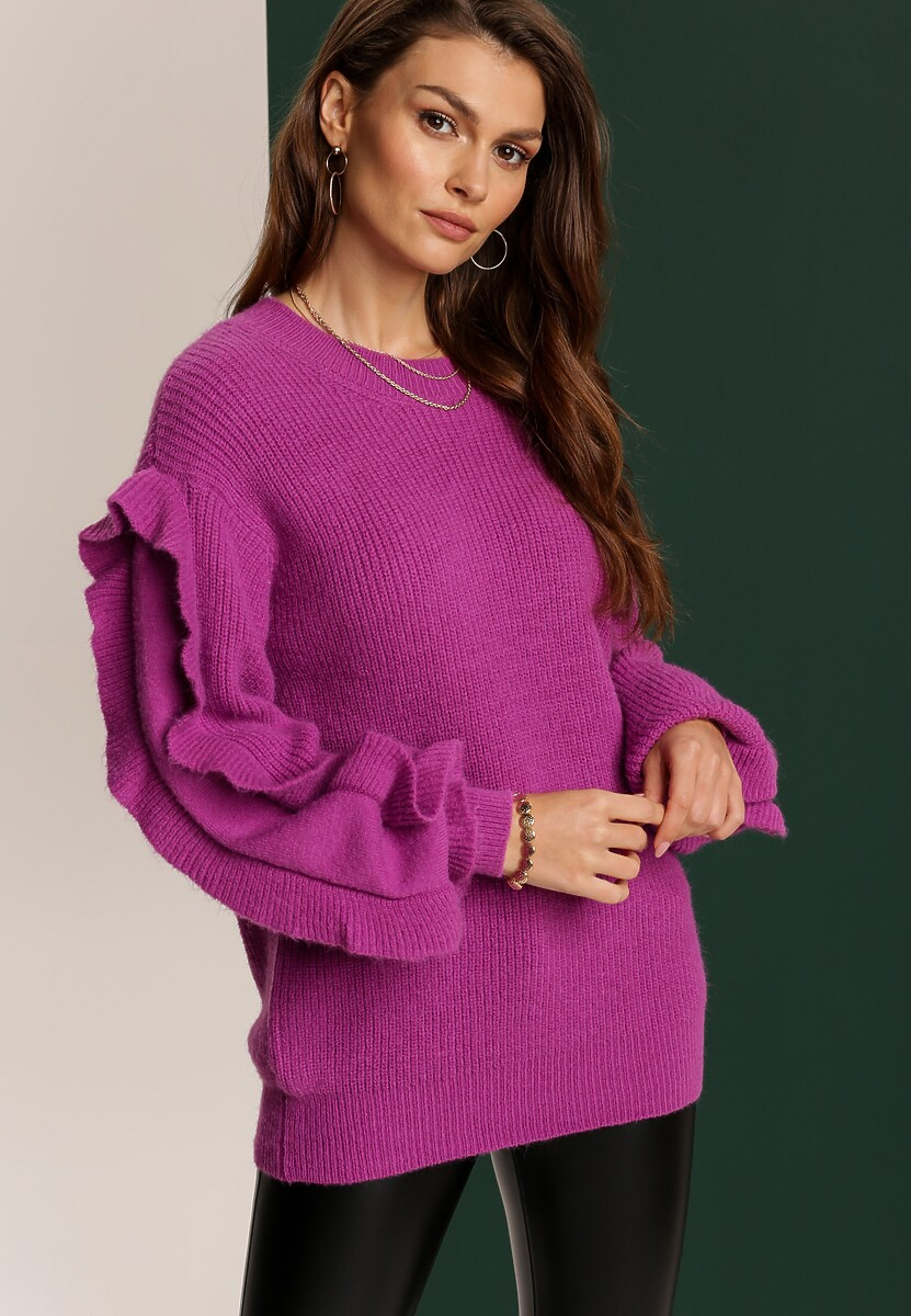 Fioletowy Sweter Lilinyss