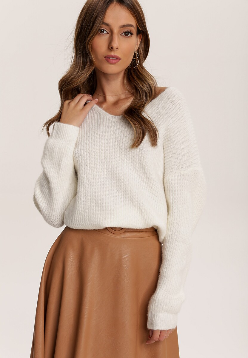 Biały Sweter Berinvynia