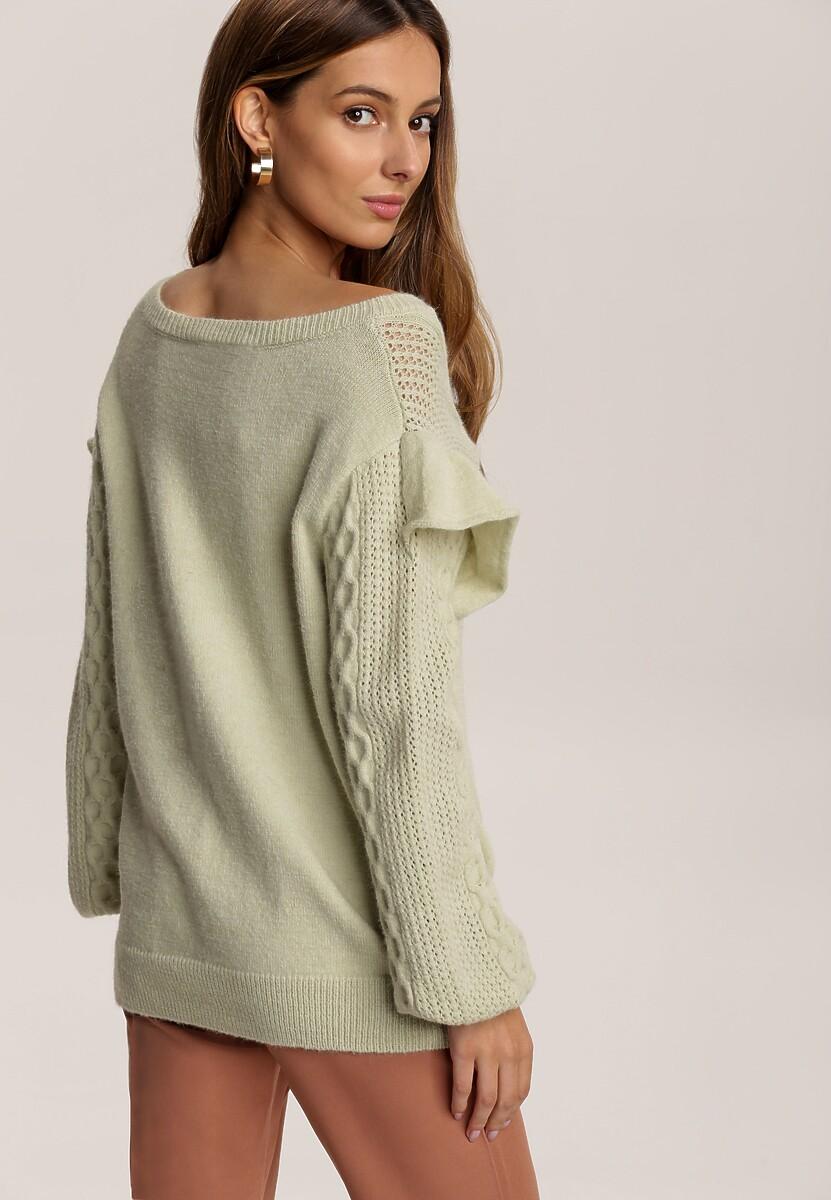 Jasnozielony Sweter Carilienne