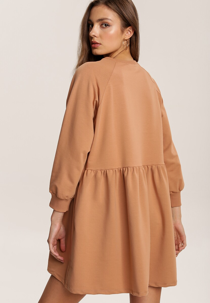 Jasnobeżowa Sukienka Nymorin