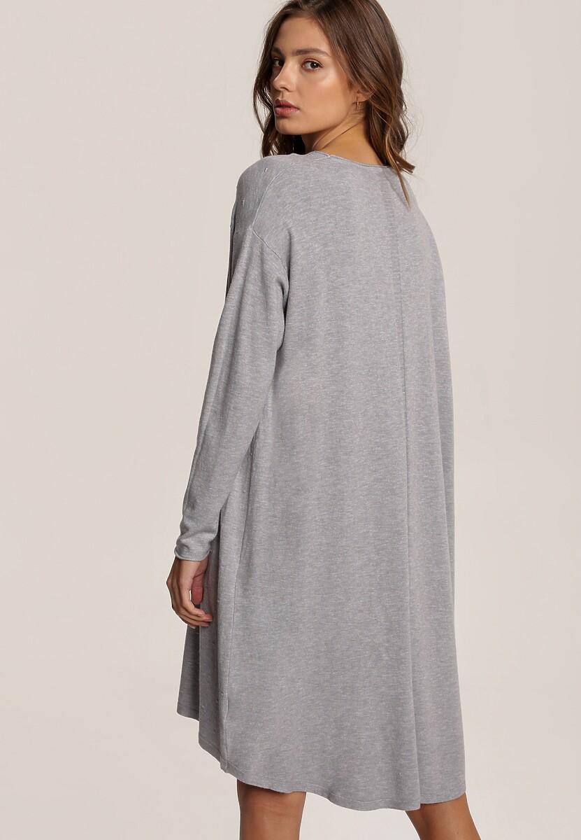 Szara Sukienka Penoth