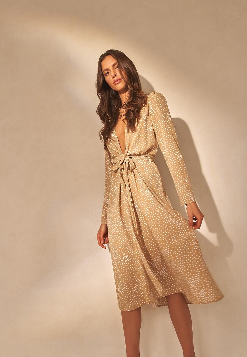 Beżowa Sukienka Yrelieth