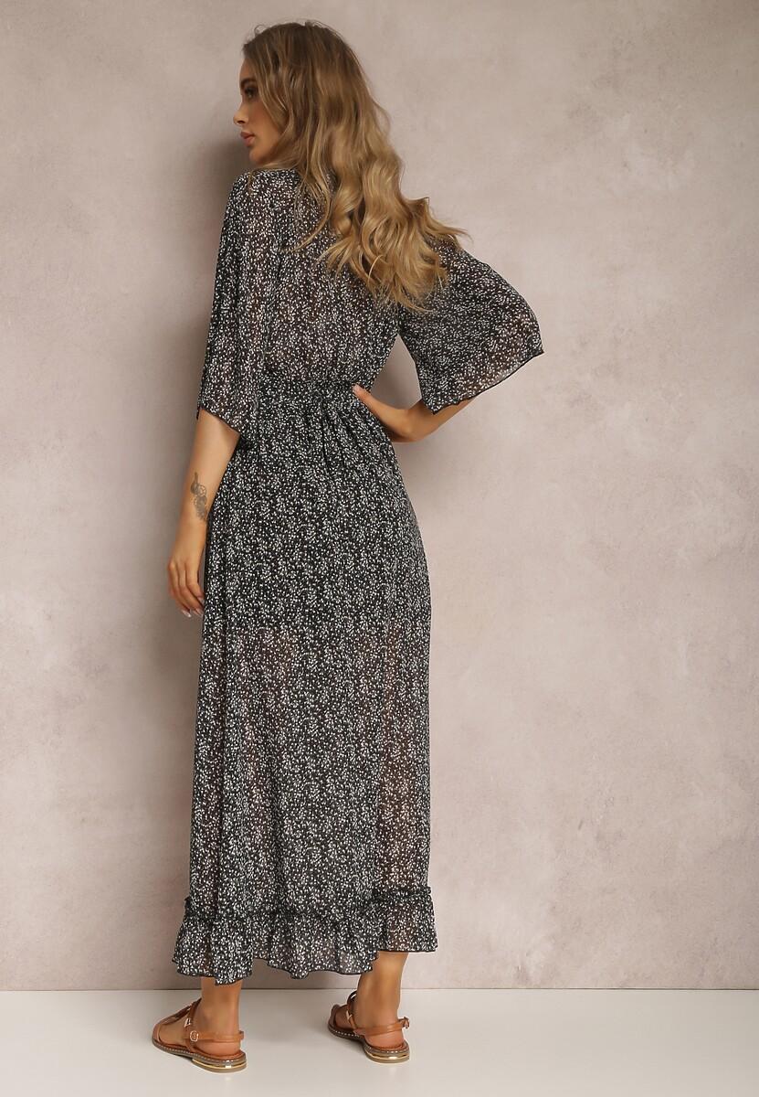 Czarno-Biała Sukienka Brizaris