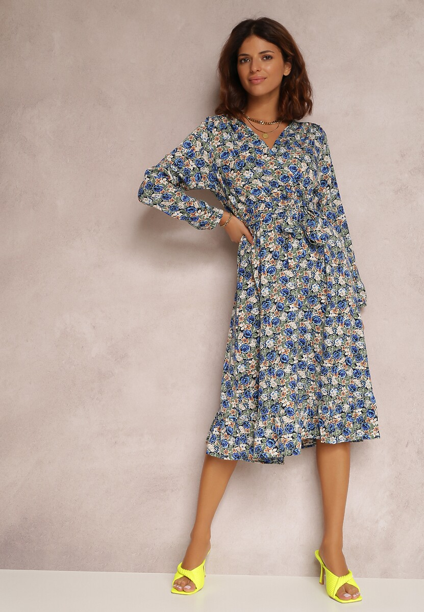 Granatowa Sukienka Zellvia