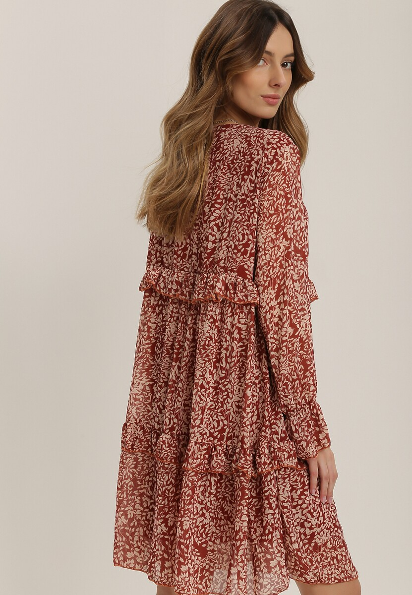 Brązowa Sukienka Irintia