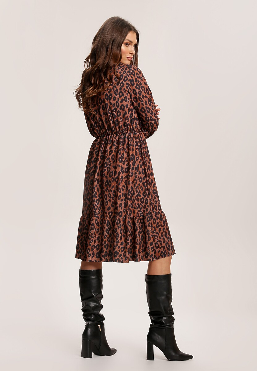 Ciemnopanterkowa Sukienka Inoceneia