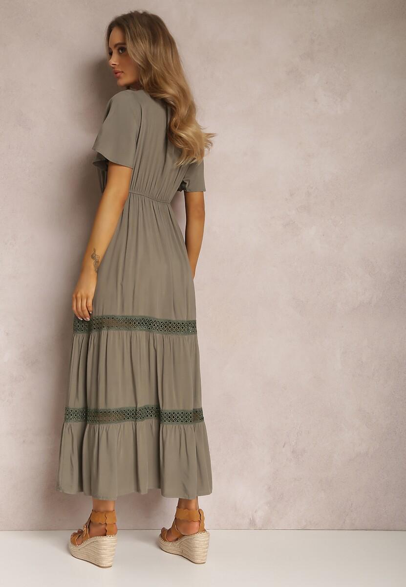 Ciemnozielona Sukienka Ilythyrra