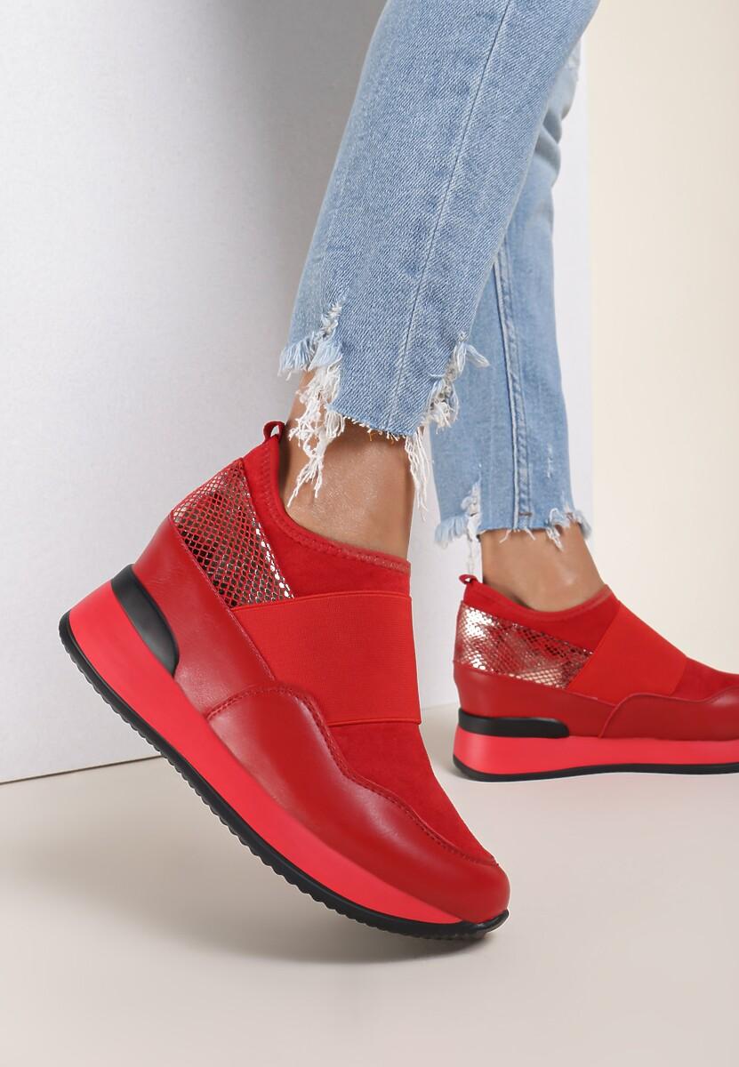 Czerwone Sneakersy Eucrante