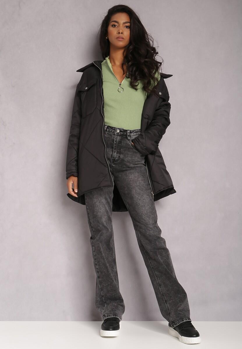 Czarne Jeansy Regular Omara