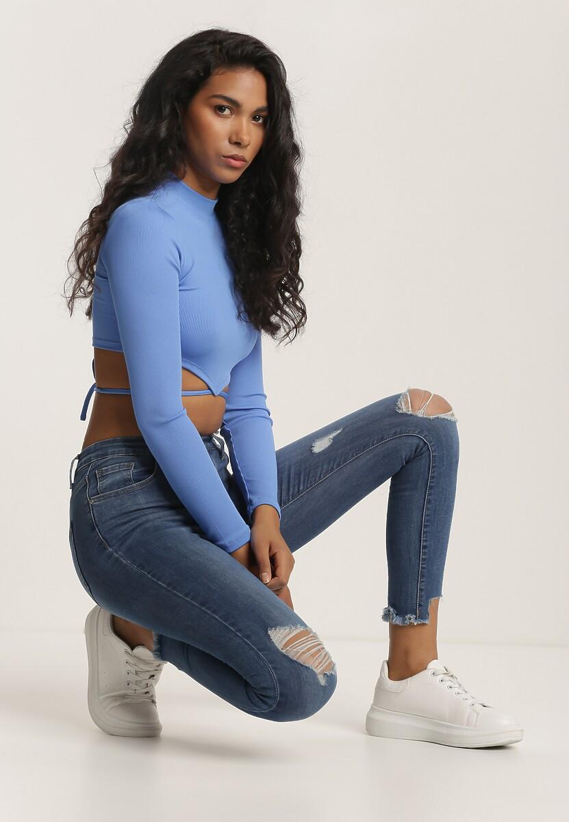 Niebieskie Jeansy Skinny Presfir