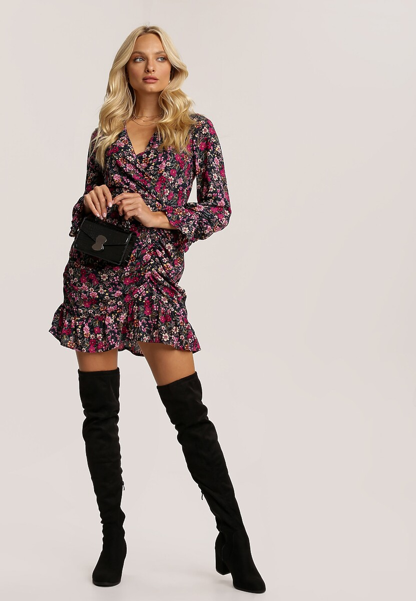 Granatowa Sukienka Digonia
