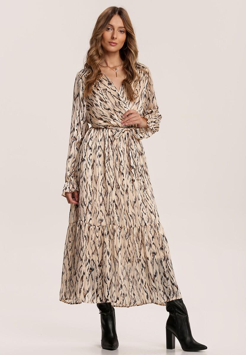 Beżowa Sukienka Fayeth