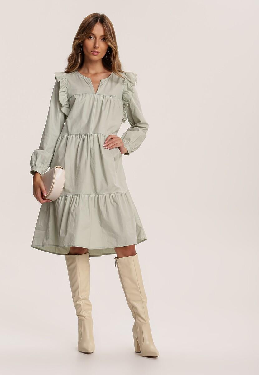 Jasnozielona Sukienka Rosanhi