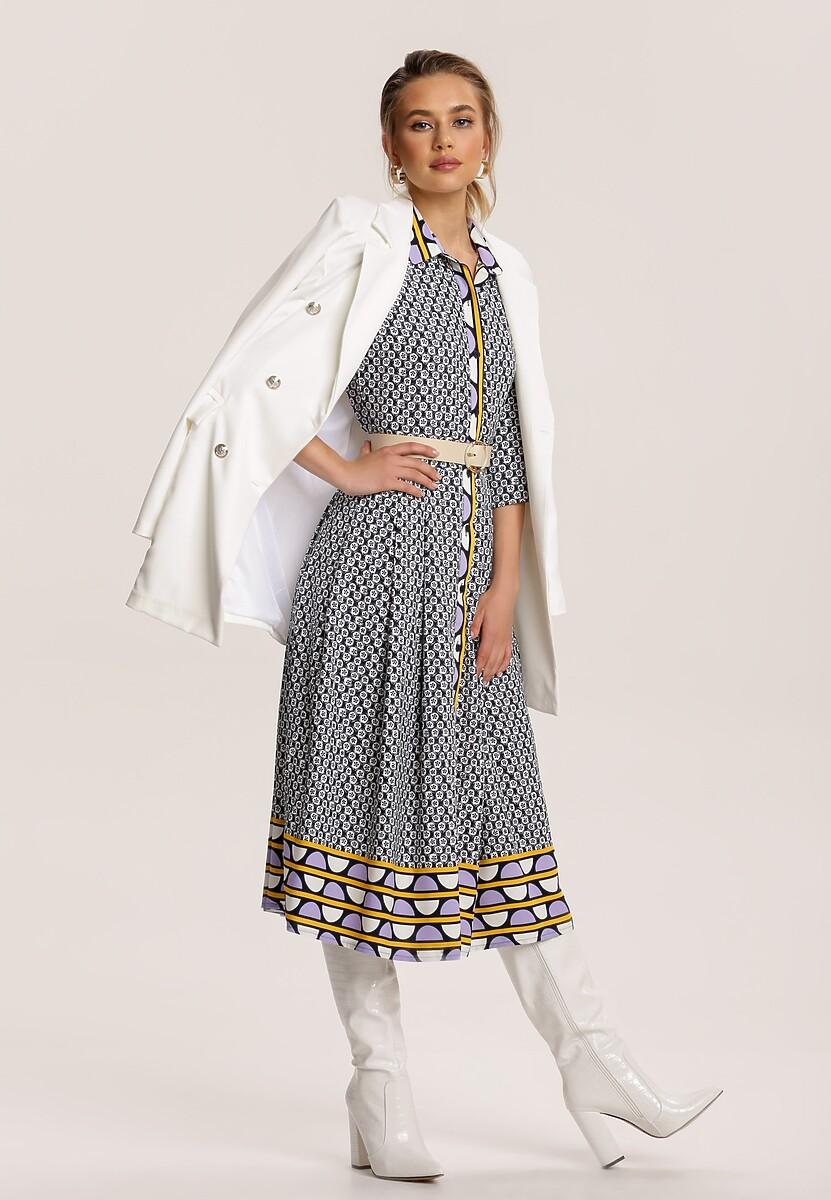 Jasnofioletowa Sukienka Caronise