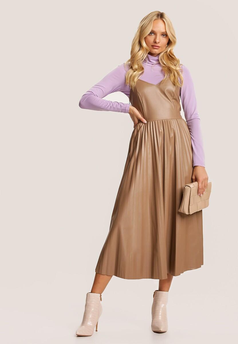 Ciemnobeżowa Sukienka Vilinraya