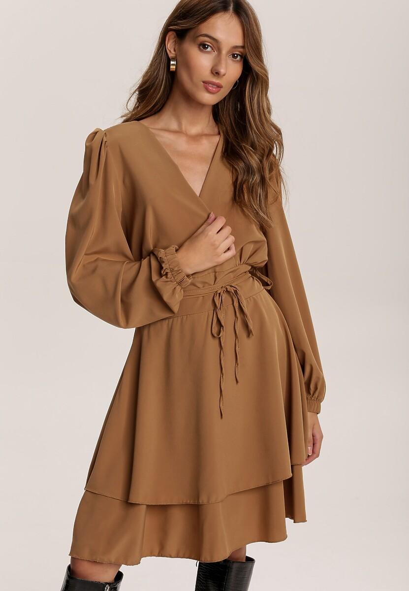 Ciemnobeżowa Sukienka Eilceran