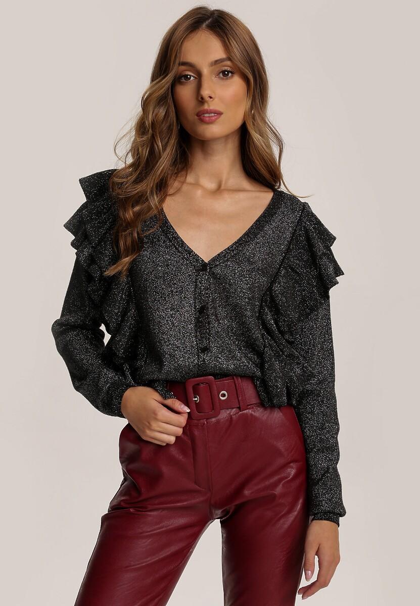 Czarno-Srebrny Sweter Loralynn