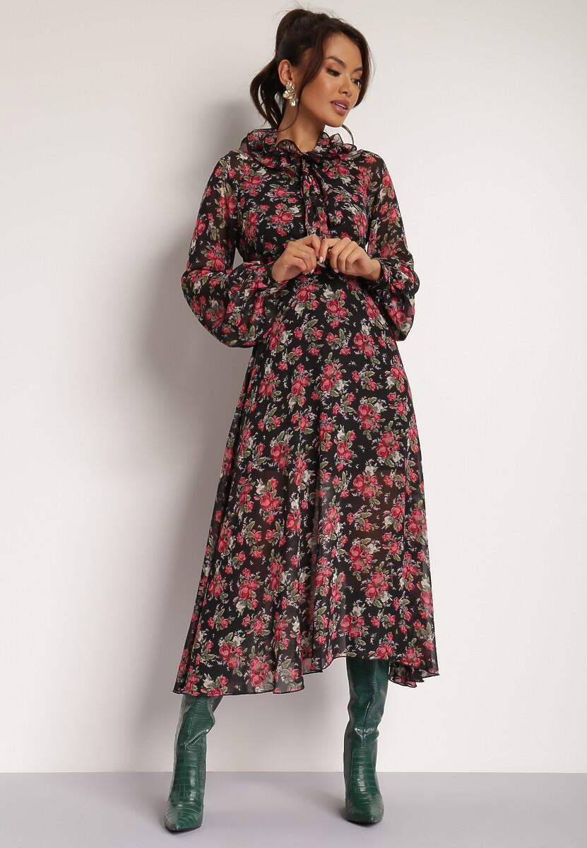 Czarno-Czerwona Sukienka Tormyar