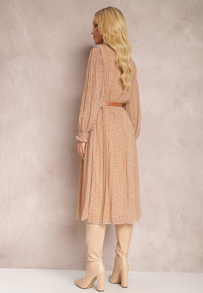 Beżowa Sukienka Vaxisys