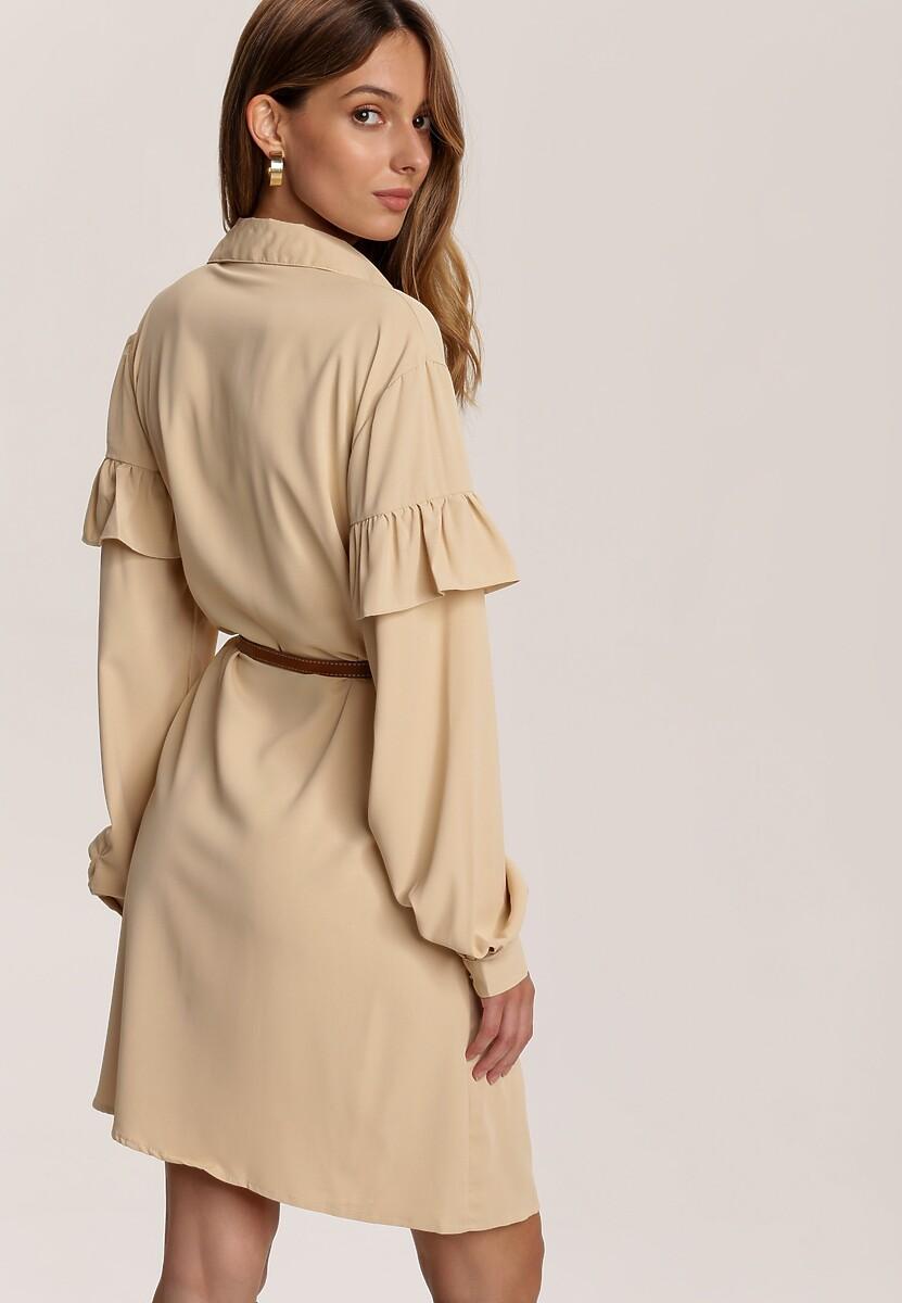 Beżowa Sukienka Inawarin