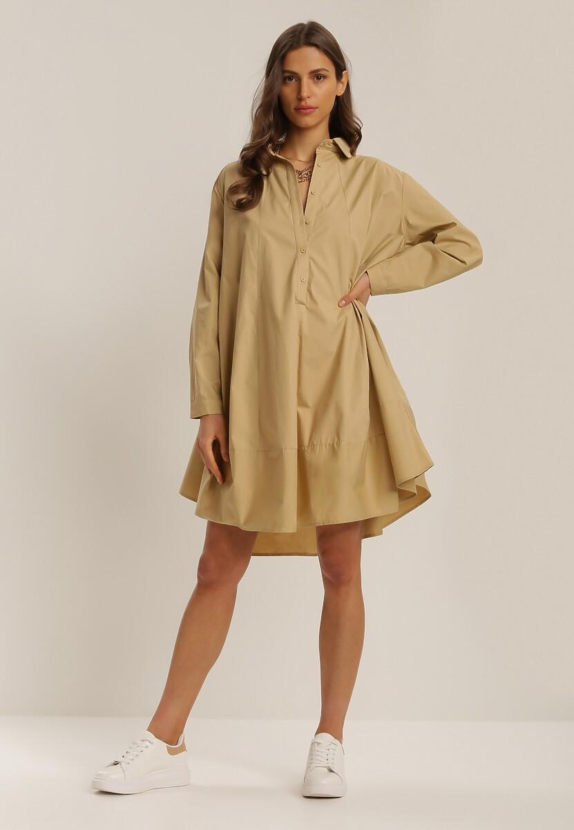 Ciemnobeżowa Sukienka Brogan